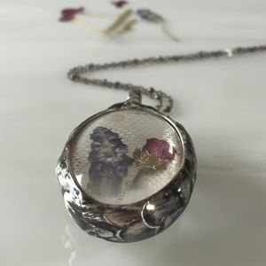 Handcrafted Botanical Pendant Necklace.